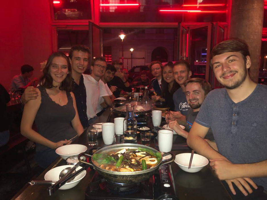 Social Entrepreneurship Elective: Students mingling in a restaurant