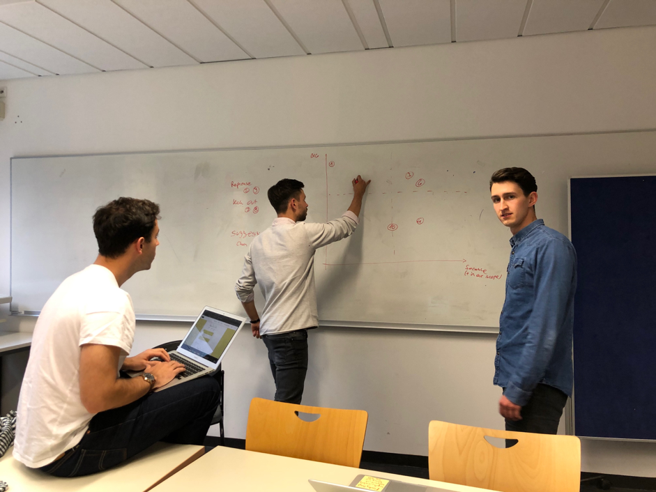 New Product Development Students Discussing Market Positioning