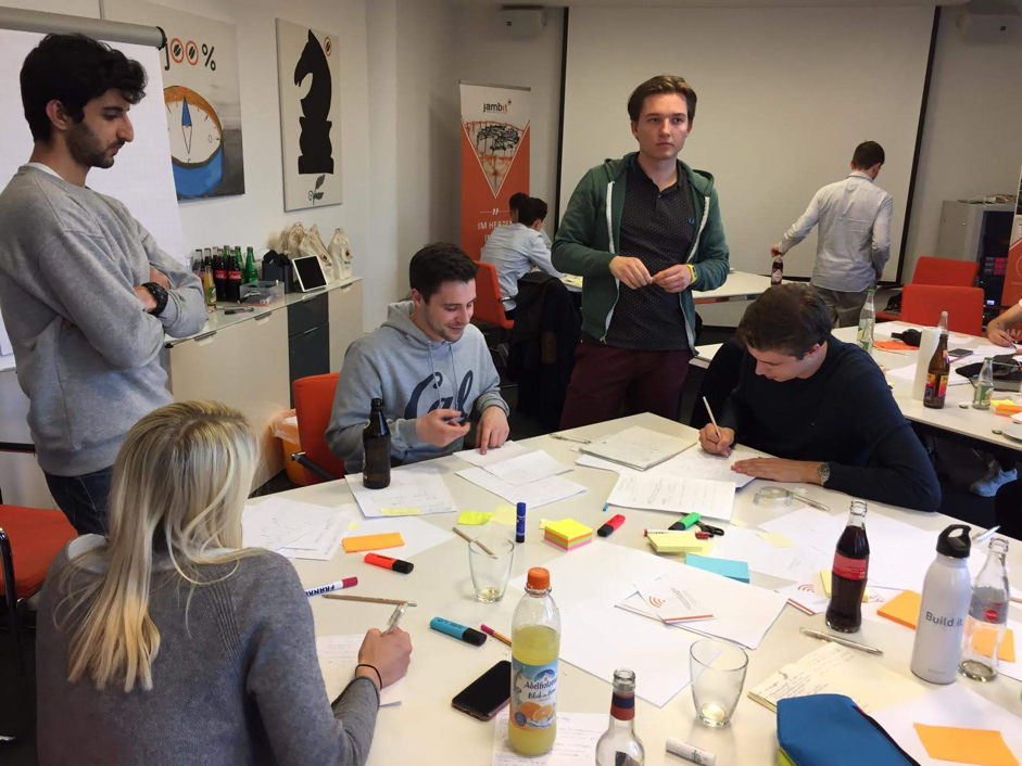 New Product Development Students Doing Paper Prototyping